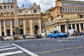 Vatican police car parked near the saint peter square in rome italy Stock Photos
