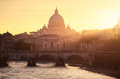 Vatican rome sunset on the Royalty Free Stock Photography