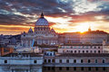 Vatican rome at a sunset Stock Photo