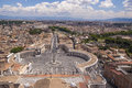 Vatican view from the roof of the st peter s basilica Royalty Free Stock Photography