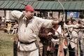 Vatra, Moldova. June 28, 2015. Medieval Festival. Historical Res Royalty Free Stock Photo