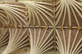 Vaulted ceiling of Exeter cathedral in Devon Stock Photography