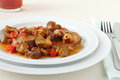 Veal with mushrooms Royalty Free Stock Images