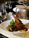 Veal shank in a warm light Royalty Free Stock Photos