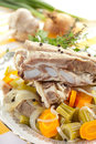 Veal with vegetables Stock Photography