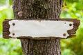 Vecchi Weather-beaten firmano dentro il legno Fotografia Stock Libera da Diritti