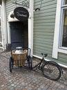 Vecchia bicicletta in Porvoo Fotografia Stock Libera da Diritti