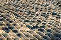 Vecchia strada del cobble-stone Fotografia Stock Libera da Diritti