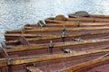 Vecchie barche di rematura Fotografia Stock Libera da Diritti