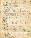 Vecchio copy-book della pagina Fotografia Stock
