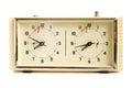 Vecchio orologio meccanico di scacchi Immagine Stock