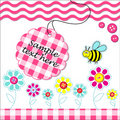 Vecotr card with scrapbook baby elements Royalty Free Stock Photo