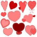 Vecteurs tirés par la main de coeur du jour de Valentine Image libre de droits