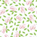 Abstract pink flower seamless pattern background