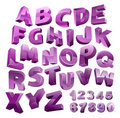 Vector 3D alphabet Royalty Free Stock Photos