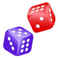 Vector 3D game dices Royalty Free Stock Photos
