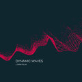 Vector abstract background with a colored dynamic waves