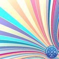 Vector abstract background with curled stripes. Illusion of 3d stripes
