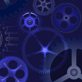 Vector abstract background with gears illustration of the Royalty Free Stock Image