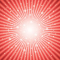 vector abstract background of red star burst Royalty Free Stock Photo