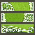 Vector abstract banner for St Patrick`s Day
