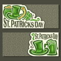 Vector abstract Banners for St. Patrick`s Day
