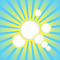 Vector abstract blue background with sun rays and place for text Royalty Free Stock Photo
