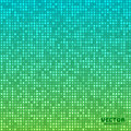 Vector abstract bright mosaic gradient background blue green Royalty Free Stock Photo