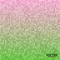 Vector abstract bright mosaic gradient green pink background Royalty Free Stock Photo