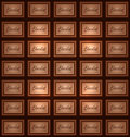 Vector abstract chocolate background Royalty Free Stock Photo