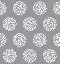 Vector abstract circles seamless pattern Royalty Free Stock Photography