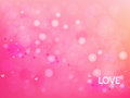 Vector abstract circular pink and heart on background .