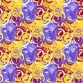 Vector abstract circular seamless pattern