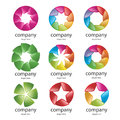Vector abstract colorful logo petals Royalty Free Stock Images