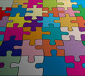 vector abstract colorful puzzle background Royalty Free Stock Photo