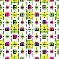Vector abstract colorful seamless pattern backgrou Royalty Free Stock Photos