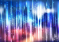 Vector abstract colorful space light effect background