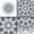 stock image of  Vector abstract coloring pages with mandala. Islam, Arabic, turkish, ottoman motifs.