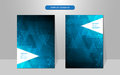 Vector abstract cover design triangle geometric pattern hi tech concept Royalty Free Stock Photo