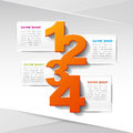 Vector abstract d paper infographics can be used for workflow layout diagram number options web design Stock Photos