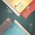 Vector abstract d paper infographics can be used for workflow layout diagram number options web design Royalty Free Stock Images
