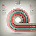 Vector abstract d paper infographics infographic elements Royalty Free Stock Image