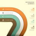Vector abstract d paper infographics infographic elements Royalty Free Stock Photography