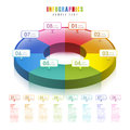 Vector abstract d pie chart infographics infographic elements Stock Photo