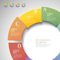 Vector abstract d ring infographics can be used for workflow layout diagram number options web design Stock Image