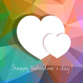 vector abstract design with hearts for Valentines