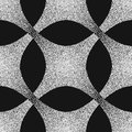 Vector abstract dotted geometric pattern element. Based on ethnic ornaments. Stipple technique. Pointillism