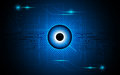 Vector abstract eye focus vision tech sci fi concept background Royalty Free Stock Photo