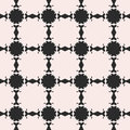 Vector abstract floral black & white seamless pattern