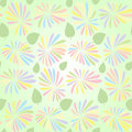Vector abstract floral seamless pattern with flowers and leaves Stock Images